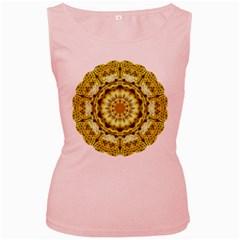 Fractal Flower Women s Pink Tank Top