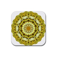 Fractal Flower Rubber Coaster (Square)