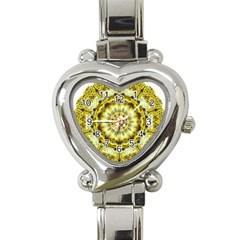 Fractal Flower Heart Italian Charm Watch