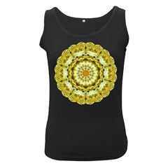 Fractal Flower Women s Black Tank Top