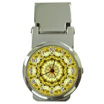 Fractal Flower Money Clip Watches Front