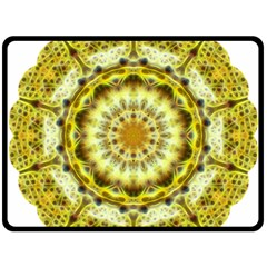Fractal Flower Fleece Blanket (large)