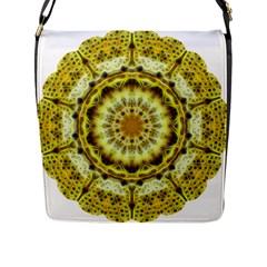 Fractal Flower Flap Messenger Bag (L)