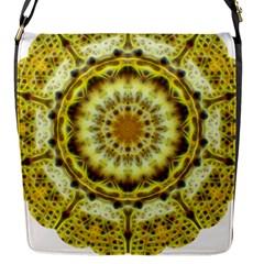 Fractal Flower Flap Messenger Bag (S)