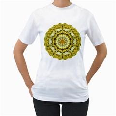 Fractal Flower Women s T-Shirt (White)