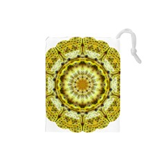 Fractal Flower Drawstring Pouches (Small)