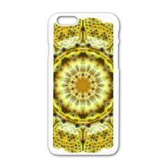Fractal Flower Apple iPhone 6/6S White Enamel Case