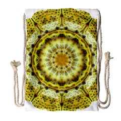 Fractal Flower Drawstring Bag (Large)