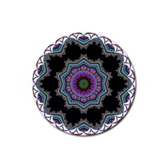 Fractal Lace Rubber Round Coaster (4 Pack)