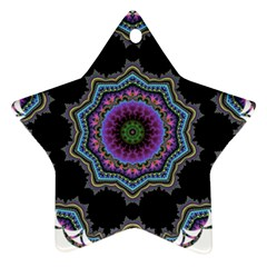 Fractal Lace Star Ornament (Two Sides)