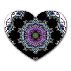 Fractal Lace Heart Mousepads