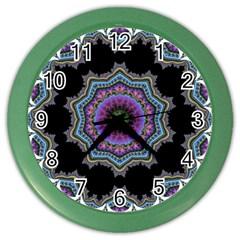 Fractal Lace Color Wall Clocks