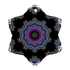 Fractal Lace Snowflake Ornament (Two Sides)