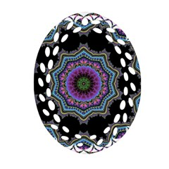 Fractal Lace Oval Filigree Ornament (Two Sides)