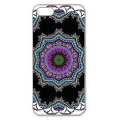 Fractal Lace Apple Seamless iPhone 5 Case (Clear)