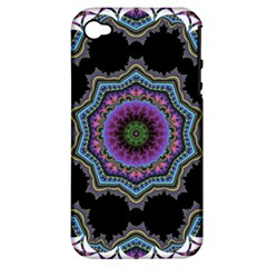 Fractal Lace Apple iPhone 4/4S Hardshell Case (PC+Silicone)