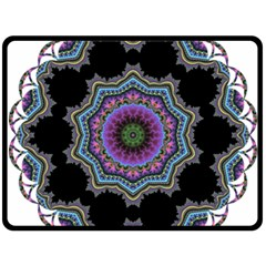 Fractal Lace Double Sided Fleece Blanket (Large)
