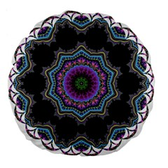Fractal Lace Large 18  Premium Flano Round Cushions