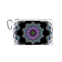 Fractal Lace Canvas Cosmetic Bag (S)