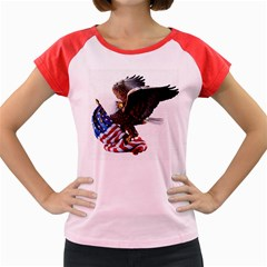 Independence Day United States Women s Cap Sleeve T Shirt
