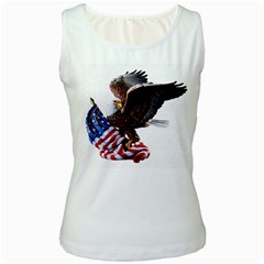 Independence Day United States Women s White Tank Top
