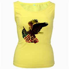 Independence Day United States Women s Yellow Tank Top