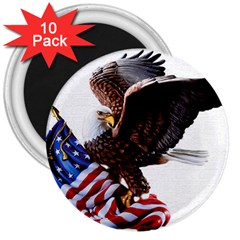 Independence Day United States 3  Magnets (10 pack)