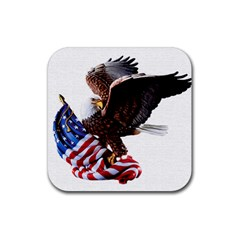 Independence Day United States Rubber Coaster (square)