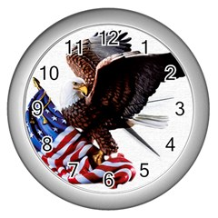 Independence Day United States Wall Clocks (silver)