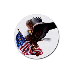 Independence Day United States Rubber Coaster (Round)