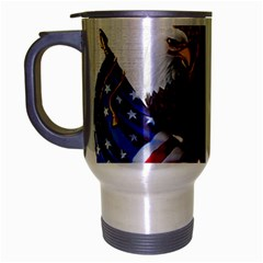 Independence Day United States Travel Mug (Silver Gray)
