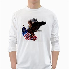 Independence Day United States White Long Sleeve T Shirts