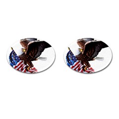 Independence Day United States Cufflinks (Oval)
