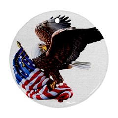 Independence Day United States Round Ornament (Two Sides)