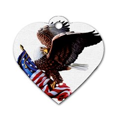 Independence Day United States Dog Tag Heart (one Side)