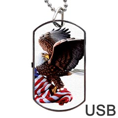 Independence Day United States Dog Tag USB Flash (Two Sides)