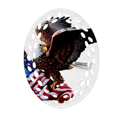 Independence Day United States Oval Filigree Ornament (two Sides)