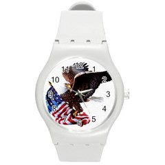 Independence Day United States Round Plastic Sport Watch (M)