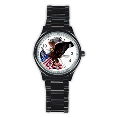 Independence Day United States Stainless Steel Round Watch