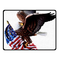 Independence Day United States Double Sided Fleece Blanket (Small)