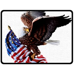 Independence Day United States Double Sided Fleece Blanket (Large)