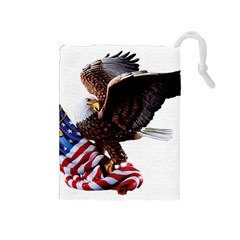 Independence Day United States Drawstring Pouches (Medium)