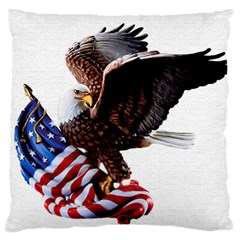 Independence Day United States Large Flano Cushion Case (Two Sides)