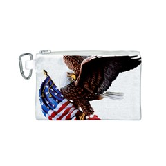 Independence Day United States Canvas Cosmetic Bag (S)