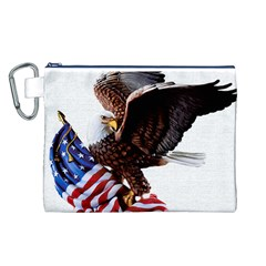 Independence Day United States Canvas Cosmetic Bag (l)