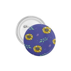 Floral Flower Rose Sunflower Star Leaf Pink Green Blue Yelllow 1.75  Buttons