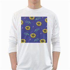 Floral Flower Rose Sunflower Star Leaf Pink Green Blue Yelllow White Long Sleeve T-Shirts