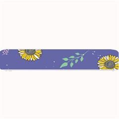 Floral Flower Rose Sunflower Star Leaf Pink Green Blue Yelllow Small Bar Mats