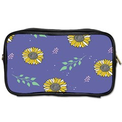 Floral Flower Rose Sunflower Star Leaf Pink Green Blue Yelllow Toiletries Bags 2-Side