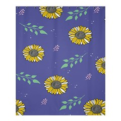 Floral Flower Rose Sunflower Star Leaf Pink Green Blue Yelllow Shower Curtain 60  x 72  (Medium)